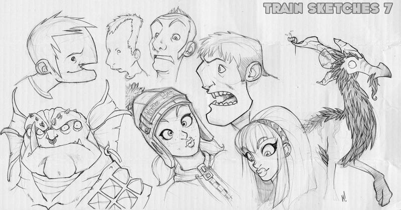 Train Sketches 7 by Zatransis