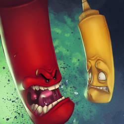Ketchup and Mustard by Zatransis