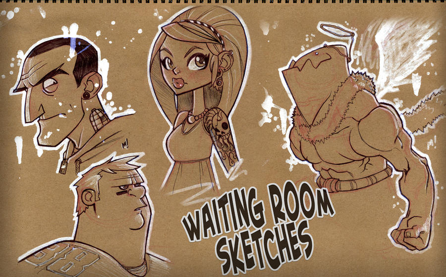 Waiting Room Sketches by Zatransis