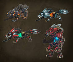 Robotic Wolf Concept by Zatransis