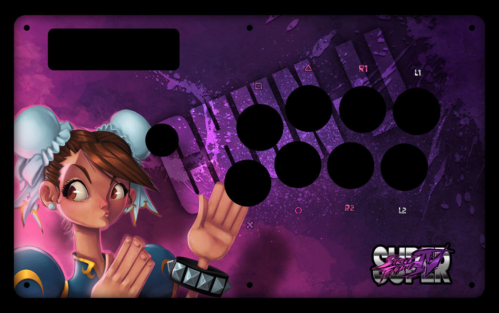 Chun-Li Fight Stick Art by Zatransis