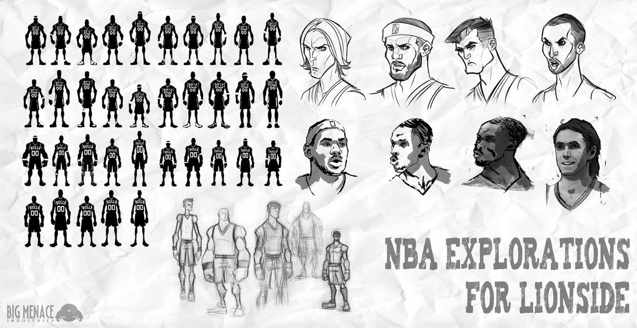 NBA Legends Silhouette Sheet by Zatransis