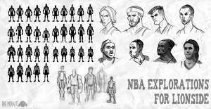 NBA Legends Silhouette Sheet