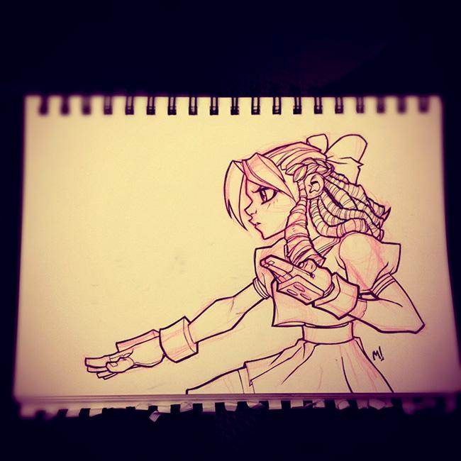 Street Fighter Sketch : Karin
