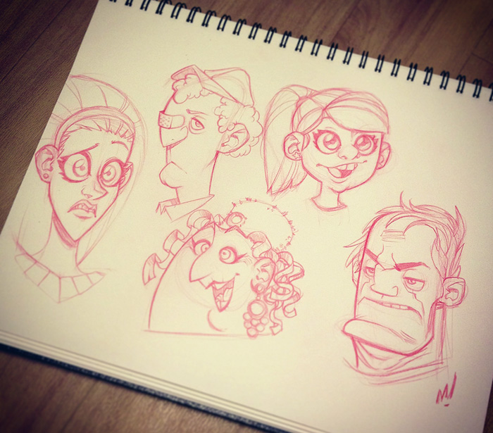 Head Sketches by Zatransis