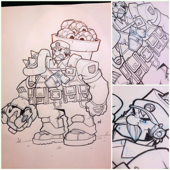 Mario Sketch Jam by Zatransis