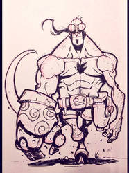 Inktober 2014 - Day 1 - Hellboy