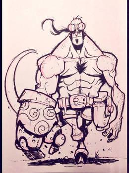 Inktober 2014 - Day 1 - Hellboy