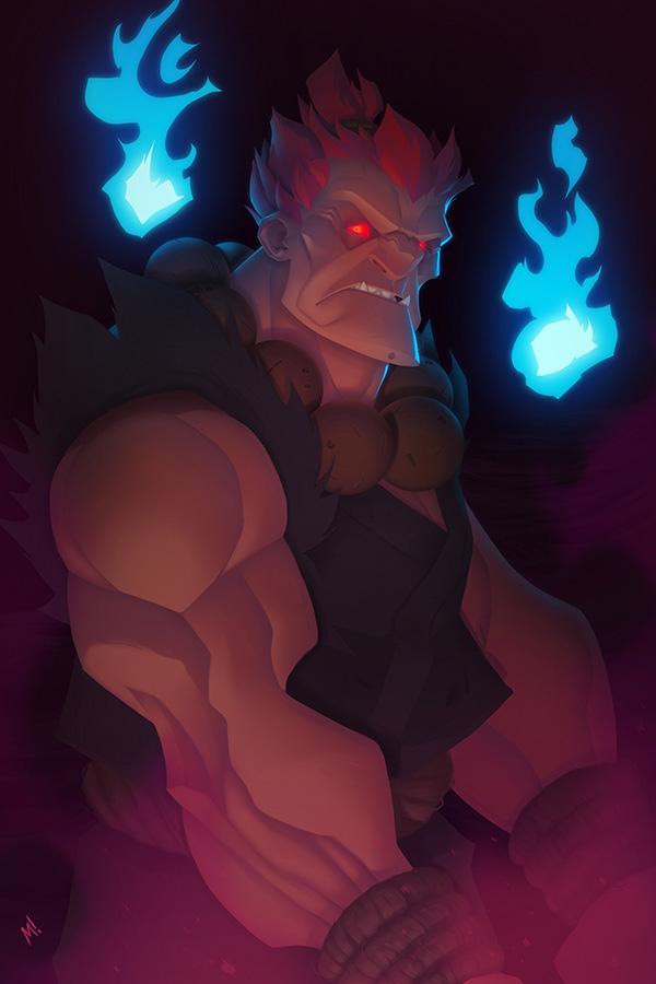 Enter the Demon - Street Fighter's Akuma by Zatransis