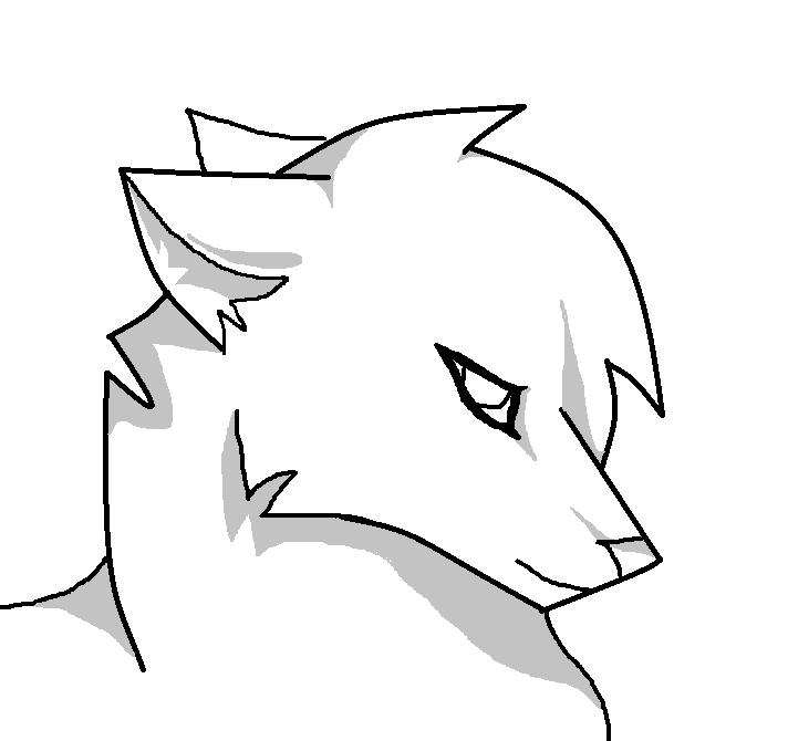 Free Wolf Lineart by ShadowedHeartOfBlood