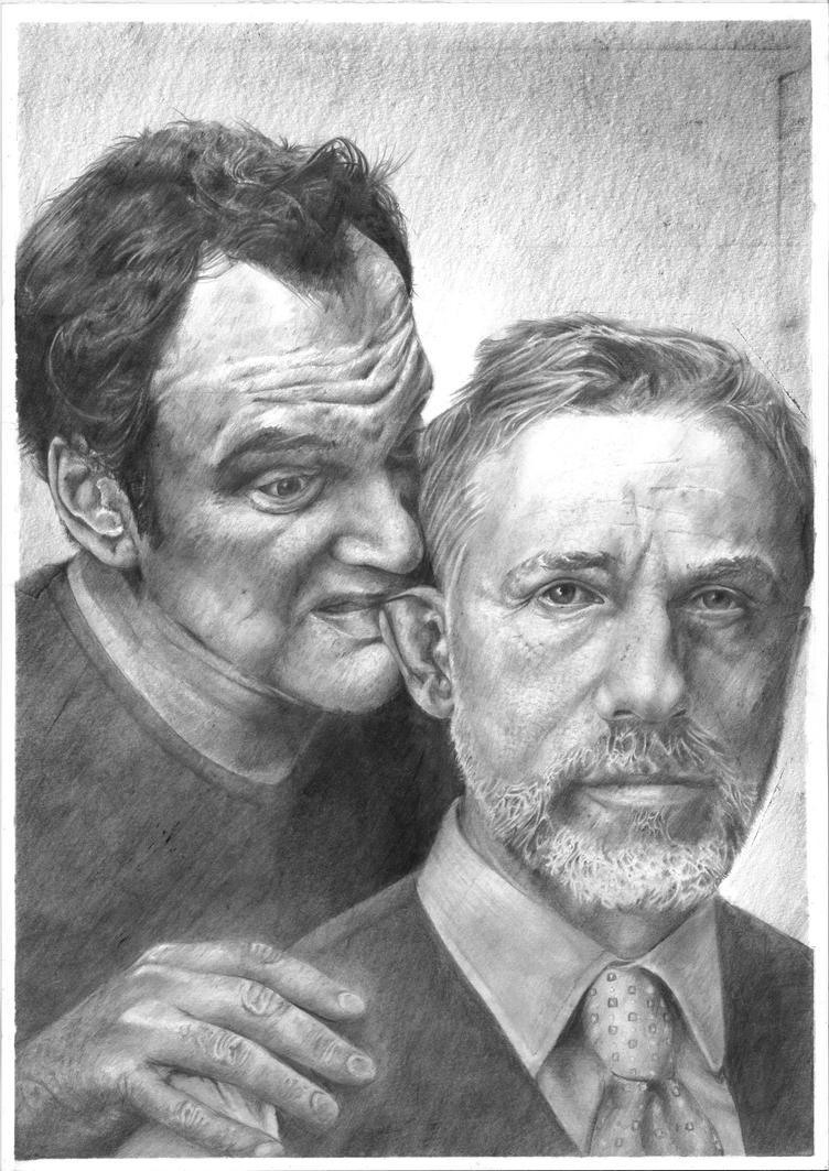 Quentin Tarantino and Christoph Waltz by korsakowski