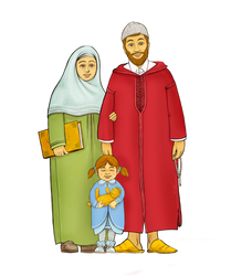 Muslim family by taoufiq
