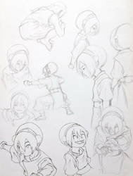 A lot more Toph by thylacine-girl