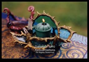 Glass Candleholder IV by ReincarnationsDotCom