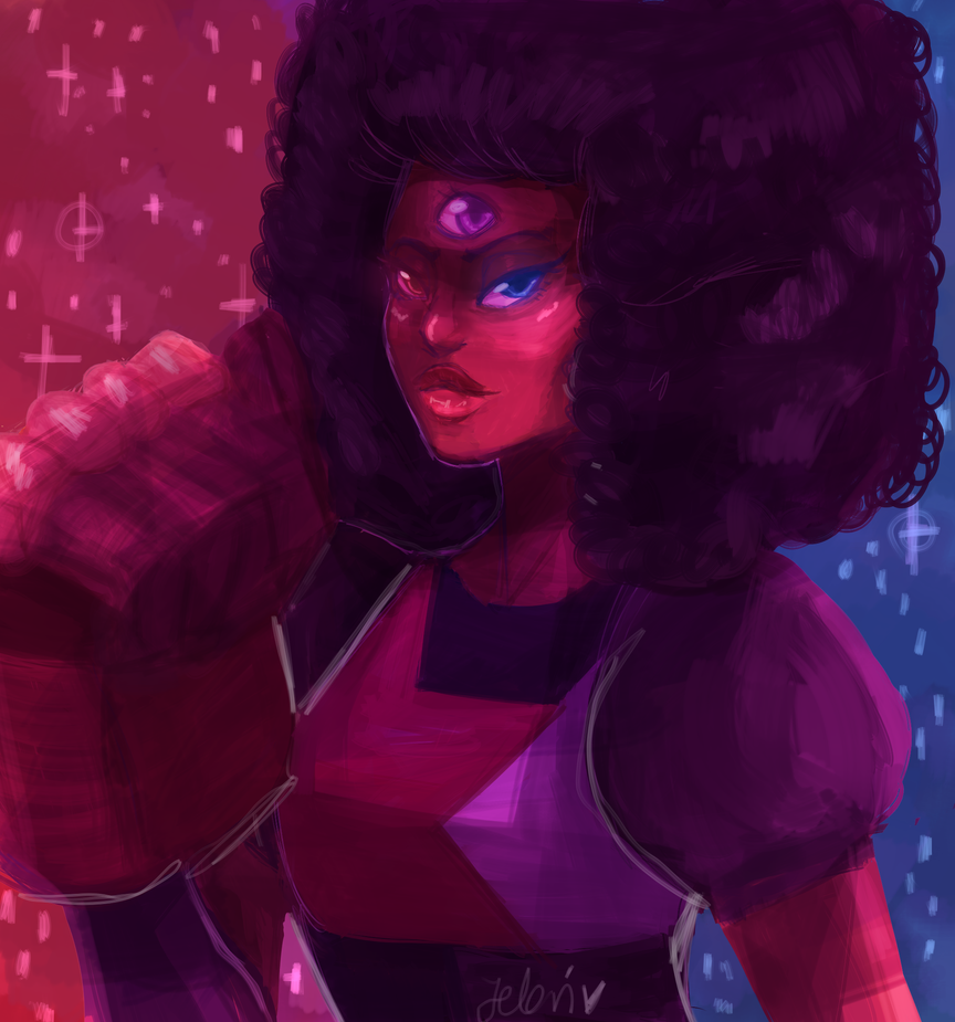 2 years ago I drew Garnet (thank you, facebook to remind me my old shitty arts), so to make me happier (? or idk) I made kinda redraw. Also I like my new brush to digipainting~~ (funfact: on that o...
