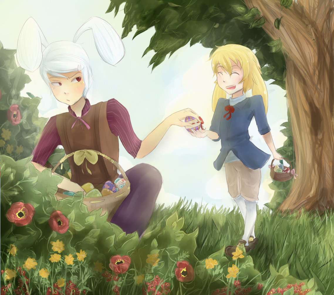 Sharing Easter Eggs by NeenBing
