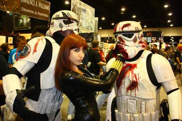 Black Widow vs. Death Troopers by betherella