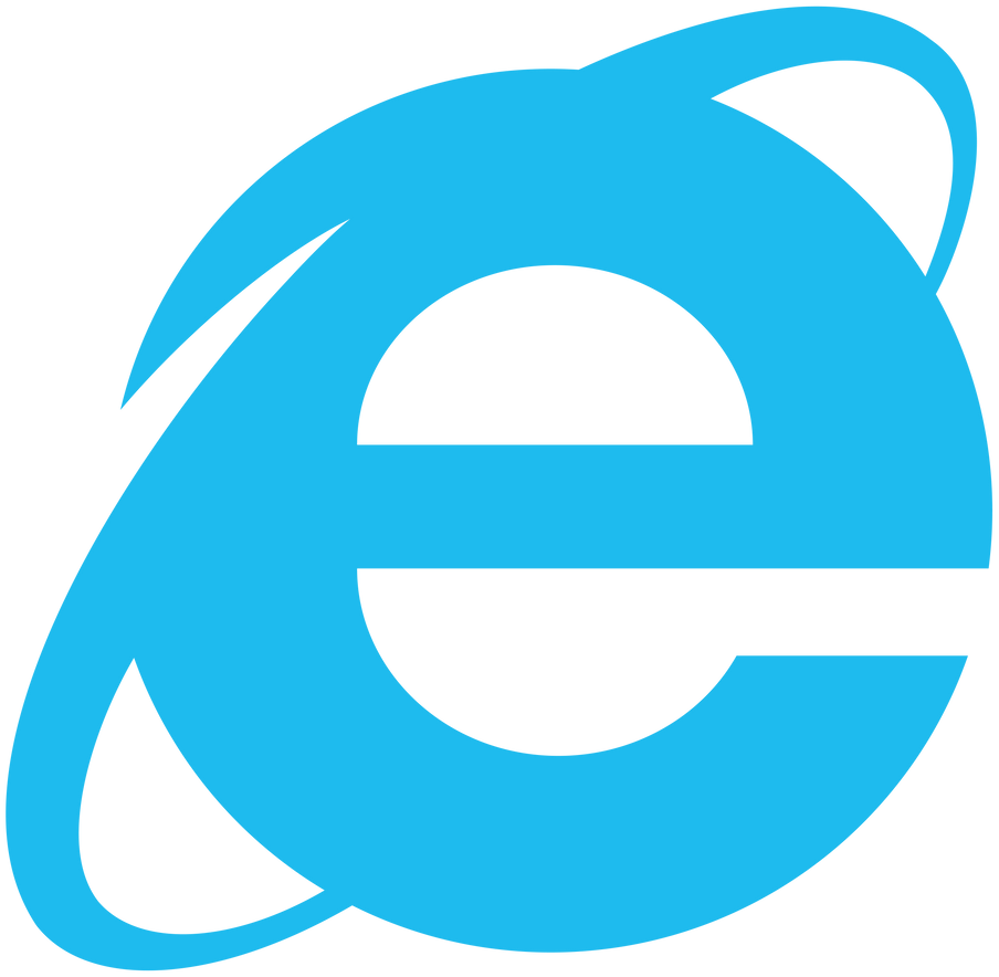 Internet Explorer Simplistic Logo, Vector by Luchocas on ...
