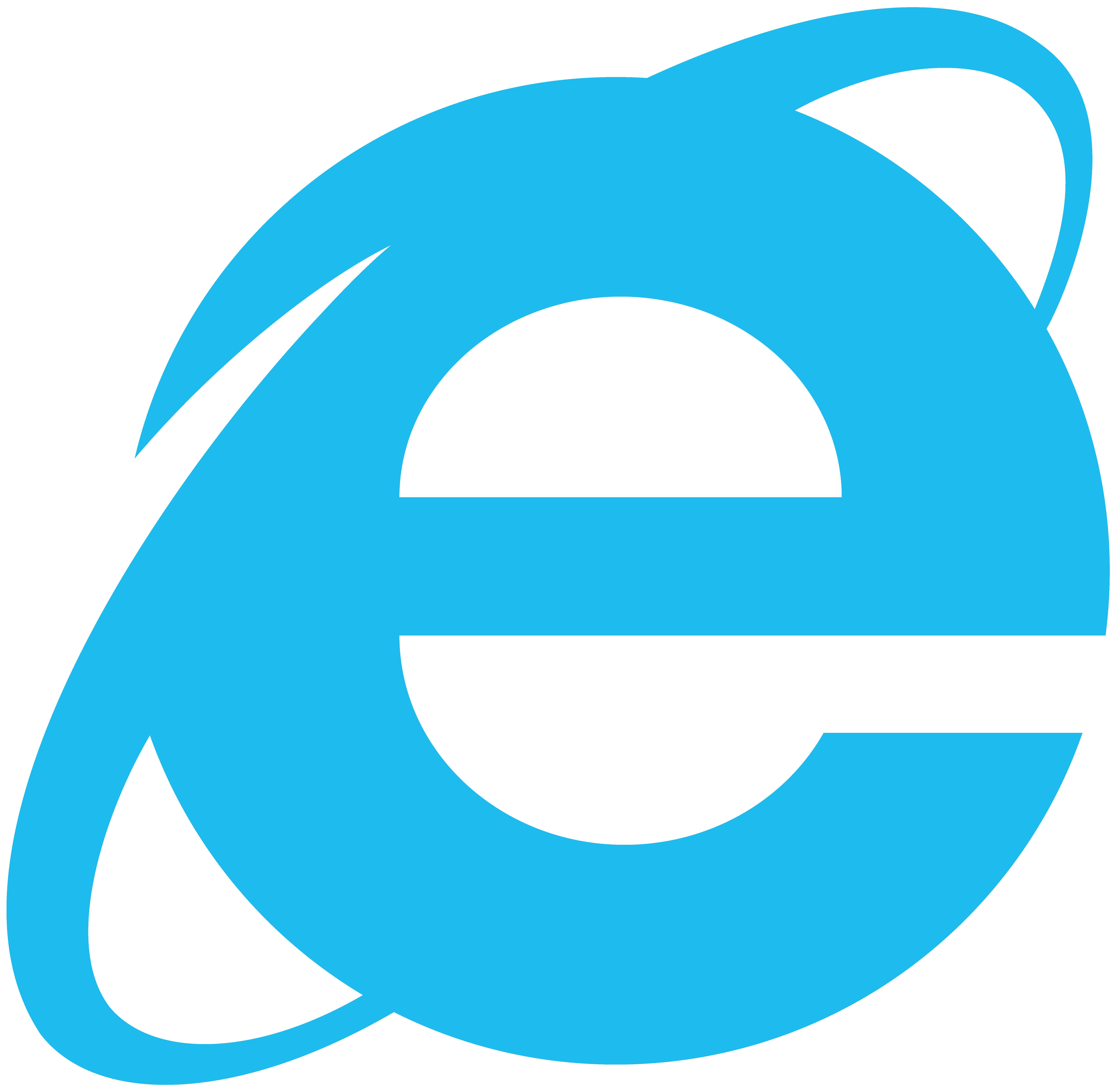 Internet Explorer Simplistic Logo, Vector