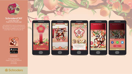 Graphic User Interface Design: Schroders CNY app
