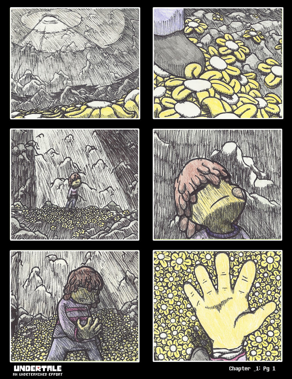 undertale aue chp 1 page 1 by notfritz on deviantart