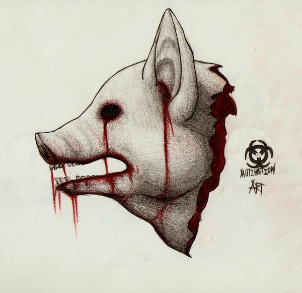 Cartoon pig head on a stick - photo#26