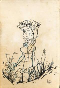 Roman Girl Pencil Sketch