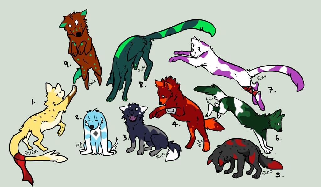 Misc. Animals - Point Adoptables by Kurai-Uma-Adoptables
