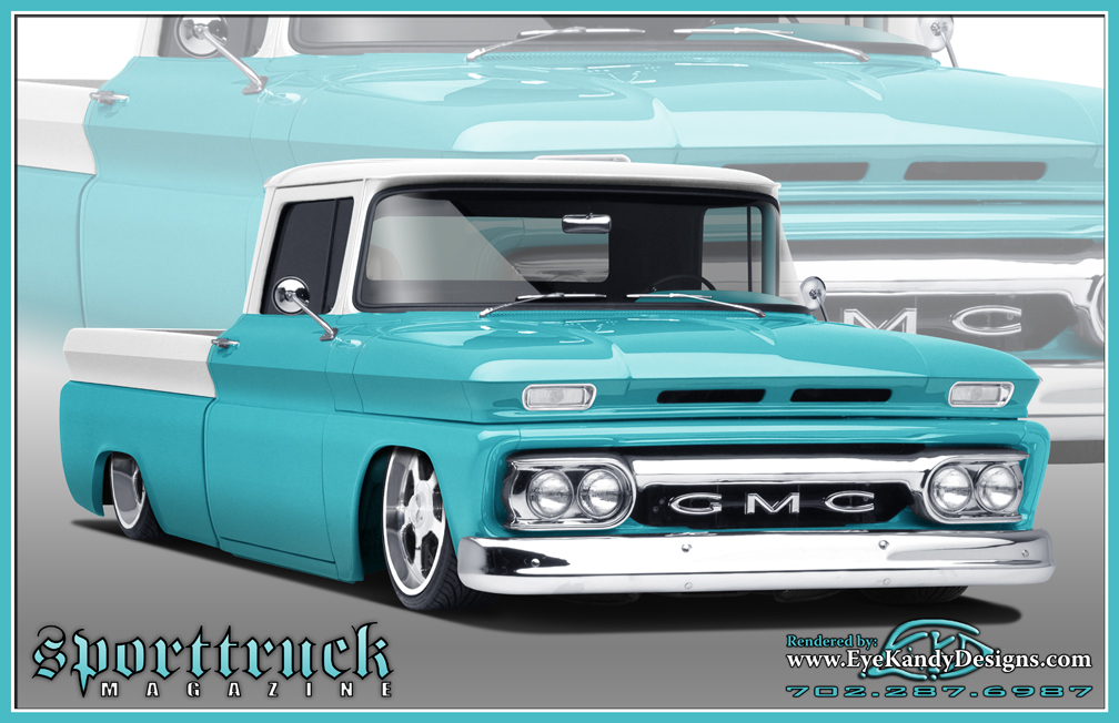 1962 gmc pickup rendering by eyekandydesigns on deviantart