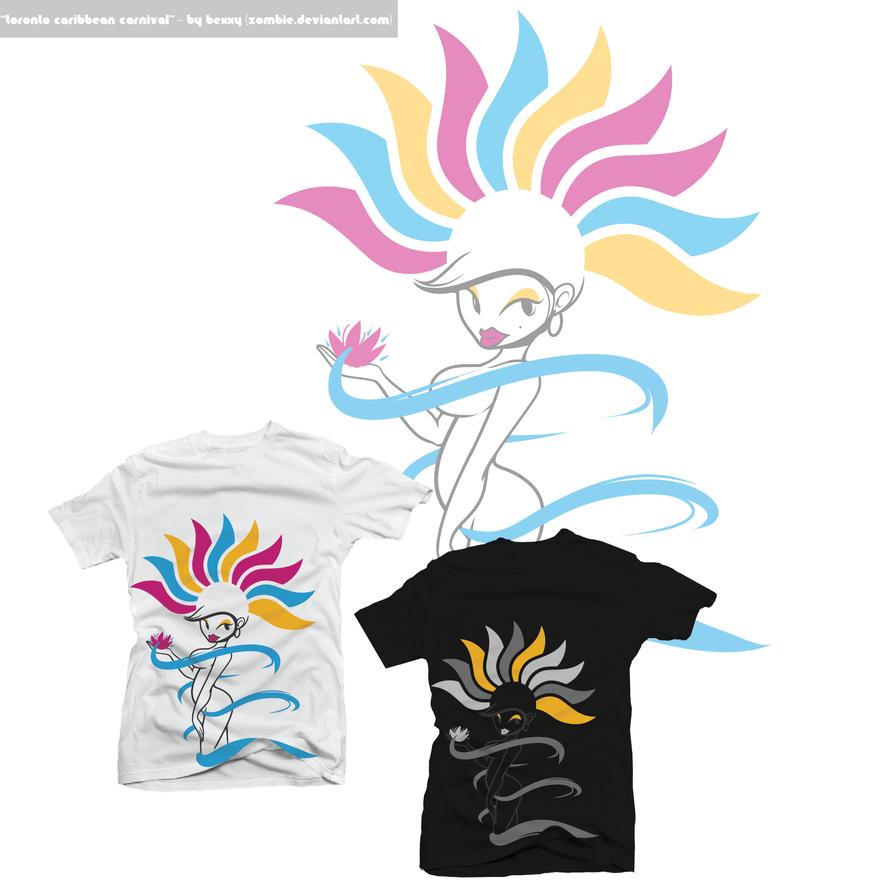 Shirt design toronto - Toronto Caribbean Carnival Tee By Zombie