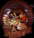 Fishbum Sarge Mascot Logo
