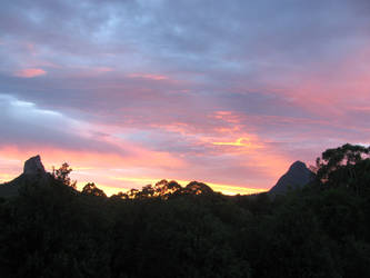 Glasshouse Mountains QLD by InsecureNumbAngel