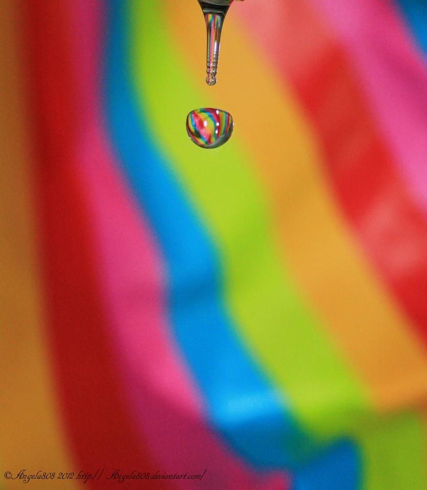 rainbow droplet by angela808