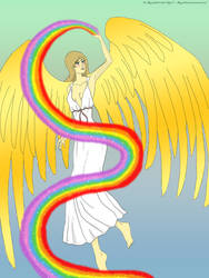 Iris goddess the rainbow by angela808