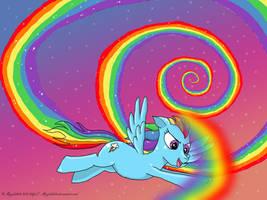 Rainbow dash starry sky by angela808