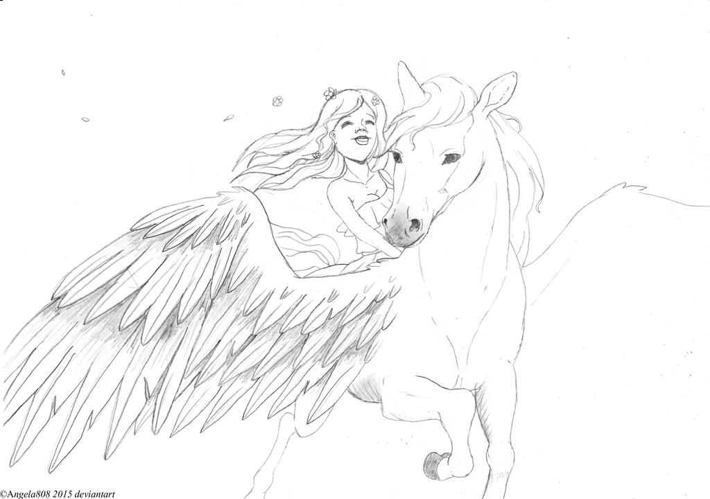 Pegasus The Flying Horse by angela808