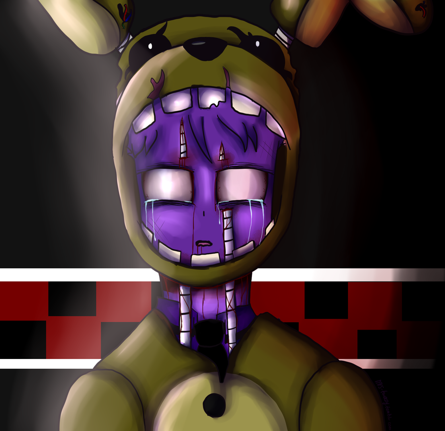 Fnaf3 purple guy s death by akemiarts on deviantart