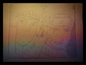 Namikaze Minato and Uzumaki Naruto by NetunoGamer