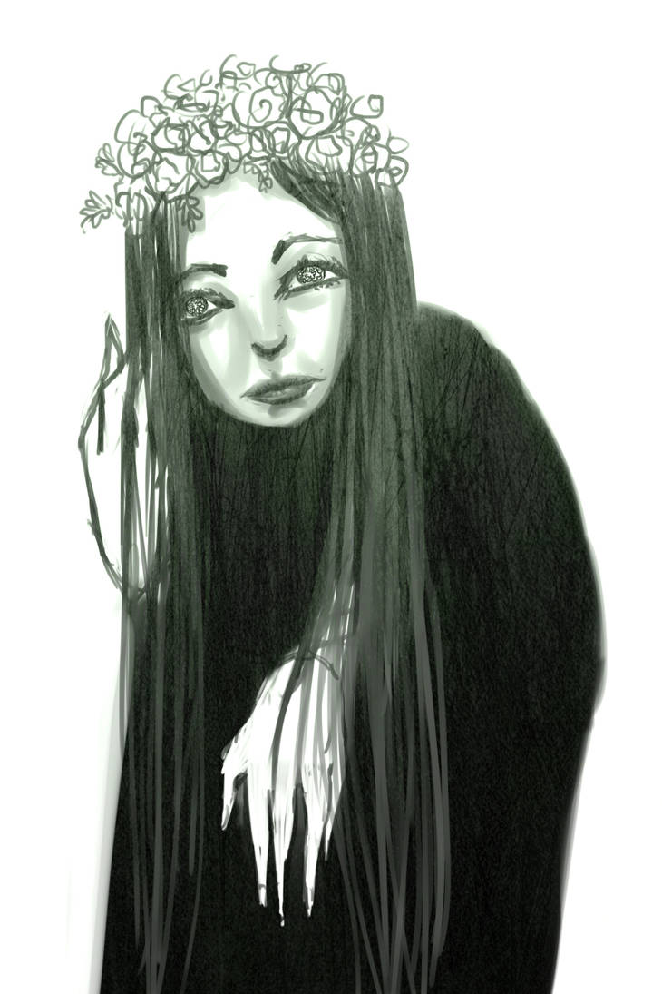 Letra flower witch by Skaistele