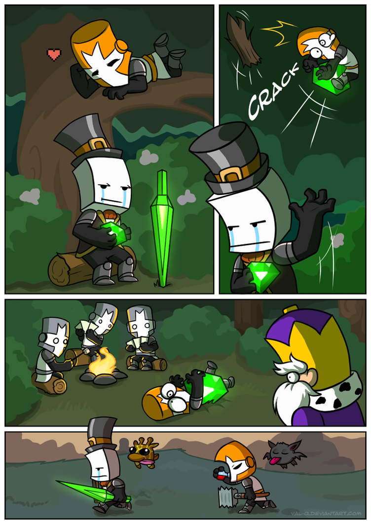 Knight's heart [Page 01] by Val-Q