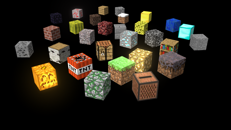 Minecraft blocks by byao2014