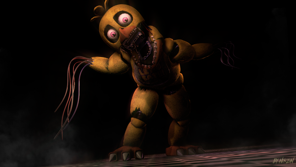 how to draw withered chica