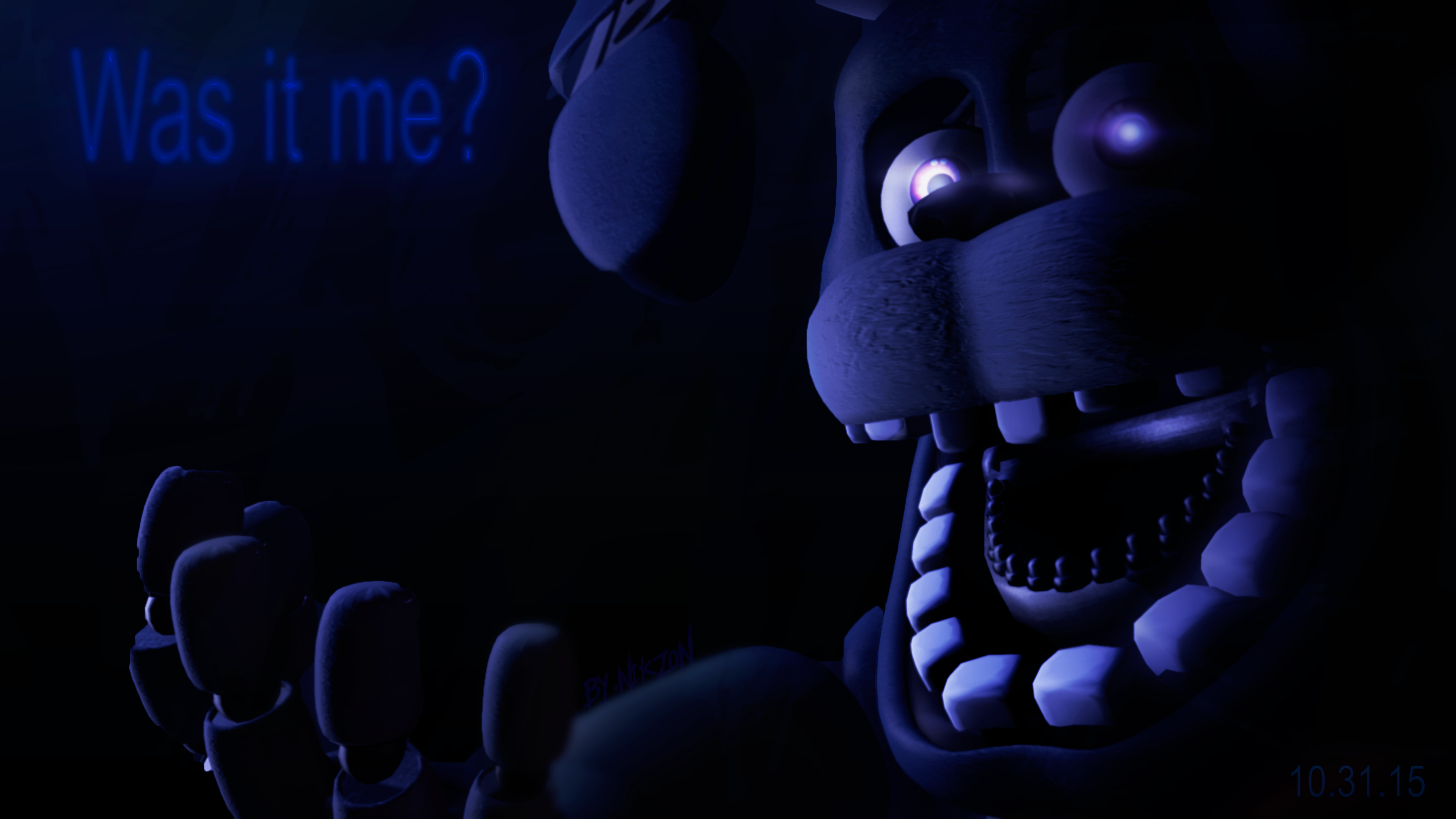 Draw House Sfm Fnaf4 Unwithered Nightmare Bonnie By Nikzonkrauser