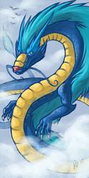 Blue dragon by Kerneinheit