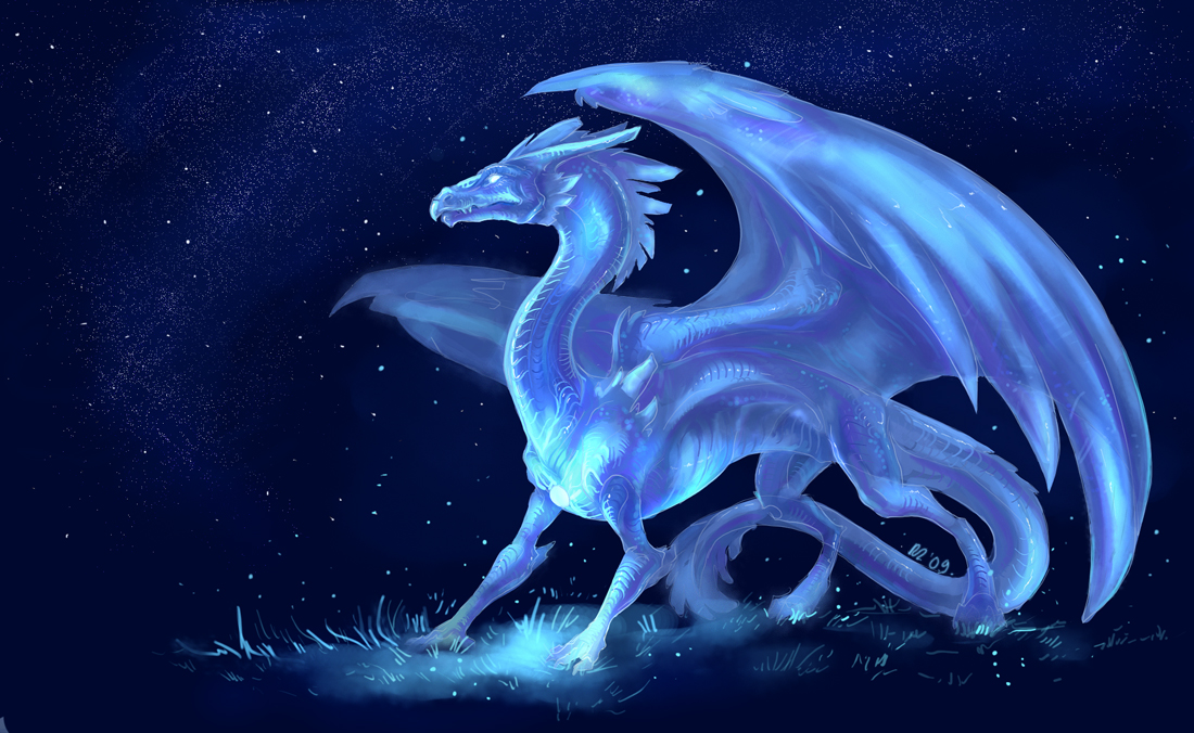 Картинки на рабочий стол драконы скалы ночь магия