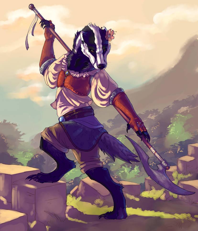 Badger warrior by Kerneinheit on DeviantArt
