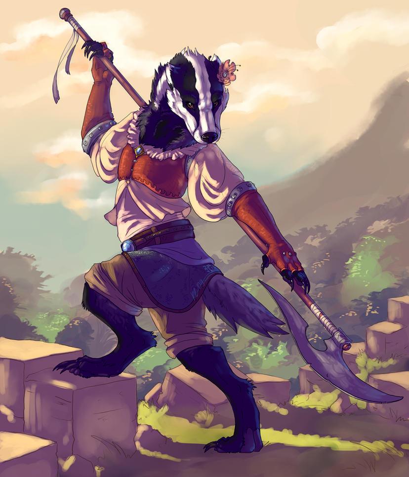 Badger warrior by Kerneinheit