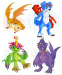 a bunch of Digimon