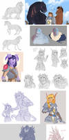 Warcraft sketch dump