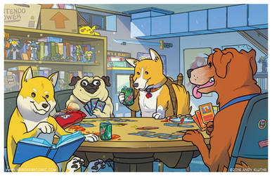 Dogs Playing Pokemon by AndyKluthe